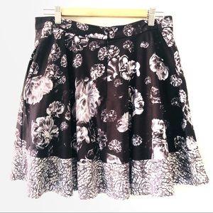 Prabal Garung Floral Circle Skirt Front Pockets